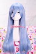 60cm Long Light Blue Heartcatch Straight Cosplay Wig Cw177