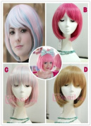 Short Lolita Bob Wig Cosplay Wig New Deep Pink Cb46B