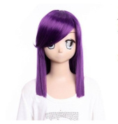 Mobile Suit Gundam 00 Tieria·Erde purple long wig Hair wigcostume wig cosplay wig for party