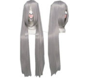 SureWells BASARA Azrael Black Butler Mix Silver and Grey Long Straight Cosplay Wig Costume Wigs