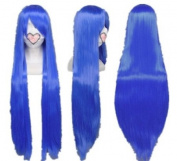 SureWells Fabulous Azrael Black Butler Blue Straight Cosplay Wig Costume Wigs