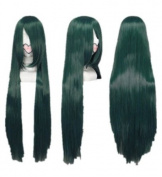 SureWells Fabulous Azrael Harukanaru Toki no Naka de Mix Dark Green Long Straight Cosplay Wig Costume Wigs