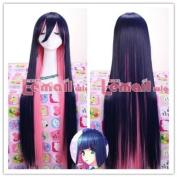 100cm Longindigo and Pink Anarchy Straight Cosplay Wig Ml43