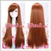 Suzumiya Haruhi Long 65cm Straight Brown Cosplay Wig CW171