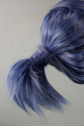 46cm Straight Mixed Grey Blue Cosplay Wig with Braid -- Future City No.6 Mice Nezumi