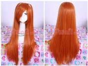 68cm long orange Asuka straight cosplay wig ML64