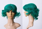 Cosplayland C248 - 30cm turquoise green wavy Marilyn Monroe style short heat stylable wig