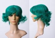 Cosplayland C248 - 30cm turquoise green wavy Marilyn Monroe style short heat stylable wig