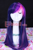 L-email 55cm Long Mixed Purple/pink My Little Pony Twilight Sparkle Cb28
