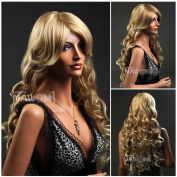 Charming Women's Long Curly Golden Wigs For Women And Ladies Lace Wigs Lacefront Wig Front Lace Wigs