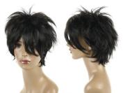 Cosplayland - Reborn Hibari short layered black as real human hair Wig