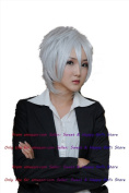 NEW fashion HOT sexy Grey Grey Straight Anime cosplay wigs party Masquerade girls 30CM