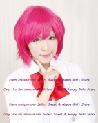 NEW fashion HOT sexy Red Straight Anime cosplay wigs party Masquerade girls 30CM