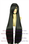 NEW fashion HOT sexy supper Long Black Straight Anime cosplay wigs party Masquerade girls 80CM