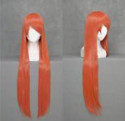 100cm Bright Maroon Straight Cosplay Wig -- Bleach Inoue Orihime