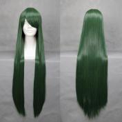 100cm Dark Green straight Cosplay Wig -- Sailor Moon Hino Rei