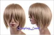 Cosplayland - 30cm short straight Party heat-resist Cosplay Wig - Ash blond