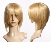 Cosplayland C208 - 30cm short straight Party Costume carnival shiny short Wig - light blond