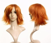 Cosplayland - C227 40cm short layered flip out Wig in heat-resistant Fibre - Orange
