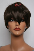 Epic Cosplay Neat Trimmed Dark Brown Cosplay Wig 30cm