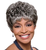 FOXY SILVER SYNTHETIC WIG-SASSY #1