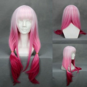 70cm Gradient Light Pink to Fushia Cosplay Wig -- Guilty Crown Yuzuriha Inori