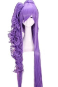 L-email 120cm Vocaloid Gakupo Long Purple Clip on Ponytails Cosplay Ml21