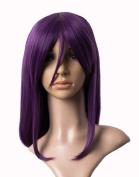 Cosplayland C521 - dunkel lila 40cm Shoulder length with curving ends straight wig