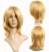 Cosplayland -C241 40cm short layered flip out heat-resistant ( VOCALOID - RIN ) natural Wig - Blond