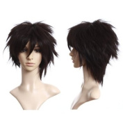 Cosplayland C056 -Wilde Styling short heat-resistant Structured Wig - brown black