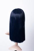 Cosplayland C1822 - 45cm One Piece - Nico Robin dark Blue Straight Gerade Line Bob Style Witch Wig
