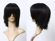 Cosplayland C756 - 40cm layered flip out natural black Wig for the daily life