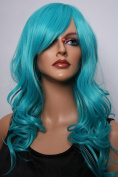 Epic Cosplay Hestia Vocaloid Green Curly Wig 60cm