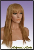 Hollywood_hair4u - Long Razored Ends with Bangs 24B / 613 Golden and Platinum Blond Mix Kanekalon Heat Resistant Synthetic Wig with Skin Top *NEW*