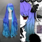90cm Curly Gradient Purple Blue Cosplay Wig -- VOCALOID THE HOLIC LUKA