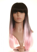 Black and Pink Dip Dyed Wig - Jessie J Style Pink and Black Wig
