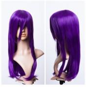 Cosplayland C594 - Berry Violet Purple 60cm Volume Bangs Straight mid-long heat Resist Wig
