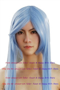 NEW Fashion shawls hair Supper Long Blue Straight Anime cosplay wigs party Masquerade girls 100cm