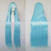 CosplayerWorld Long Cosplay Wig Anime Manga Games Cosplay Wig Cosplay 100cm 1 metre Blue Ice