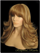 Hollywood_hair4u - Long Razor Feathered F27 / 613 Strawberry Blond with Platinum Blond Highlights Mix Kanekalon Heat Resistant Synthetic Wig with Skin Top *NEW*