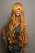 Epic Cosplay Hera Autumn Gold Curly Wig 100cm