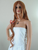 Epic Cosplay Hera Cocoa Brown Curly Wig 100cm