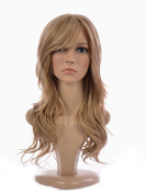 Blonde Long Soft Wave Hairstyle Wig | Kardashian Style Wig | Soft side Sweeping Fringe | Heat Style-able wigs