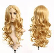 Cosplayland - C210 65cm long big Wave Volume Wig with middle parted - Blond