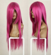 Cosplayland C116 - 80cm long straight heat resistant Theatre HOT PINK Wig
