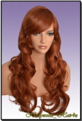 Hollywood_hair4u - Extra Long Curly #130 Copper Red Wig Kanekalon Heat Resistant Synthetic Fibre Wig with Skin Top *NEW*