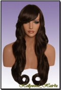 Hollywood_hair4u - Extra Long Curly #6B Warm Medium Brown Wig Kanekalon Heat Resistant Synthetic Fibre Wig with Skin Top *NEW*