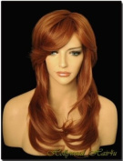 Hollywood_hair4u - Long Curly #130 Copper Red Wig Kanekalon Heat Resistant Synthetic Fibre Wig with Packed Root Top*NEW*