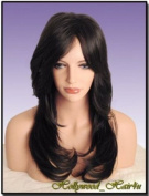 Hollywood_hair4u - Long Curly #2 Black Brown Wig Kanekalon Heat Resistant Synthetic Fibre with Packed Roots Top *NEW*