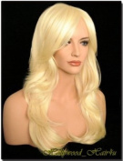Hollywood_hair4u - Long Curly #613 Platinum Blond Wig Kanekalon Heat Resistant Synthetic Fibre with Packed Roots Top*NEW*